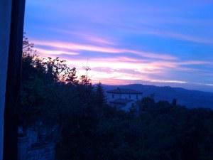 Pink Tuscan sunset