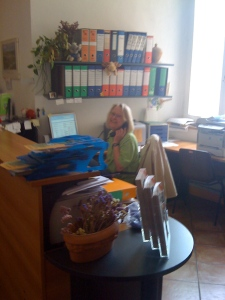 Heike at Il Sasso, the Italian language school for foreigners