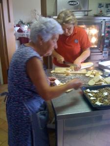 Preparing the crostini