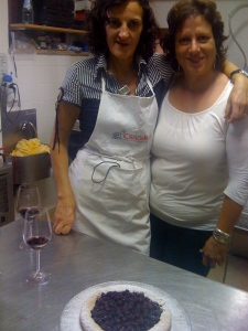 Sarah-Kate and Ginny at the cooking lesson