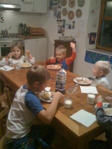 Babysitting the kids yesterday