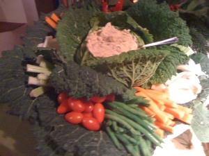I was pretty proud of my crudité creation...