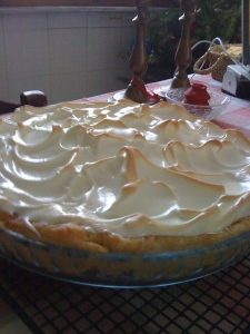 "My gorgeous lemon meringue pie went into meltdown and by dessert I served a fluffly yellow soup that seemed very ""Bridget Jones"""