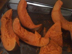 Step 2 roast pumpkin