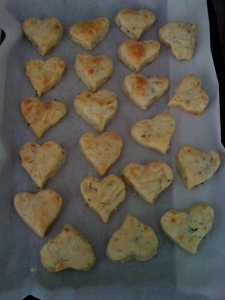 Gruyere & thyme crackers for the bread basket