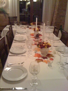 Terry's autumnal table is ready