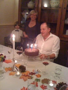 My amazing friend Terry also prepared a birthday cake for Charles!