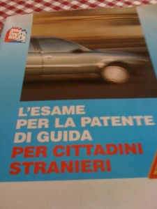 My new best friend... my book to study for the Italian driver's license