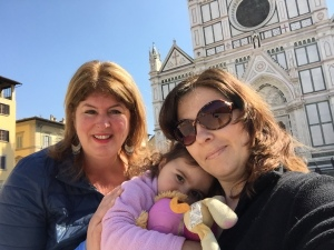 Michelle, Marisa and me at Santa Croce